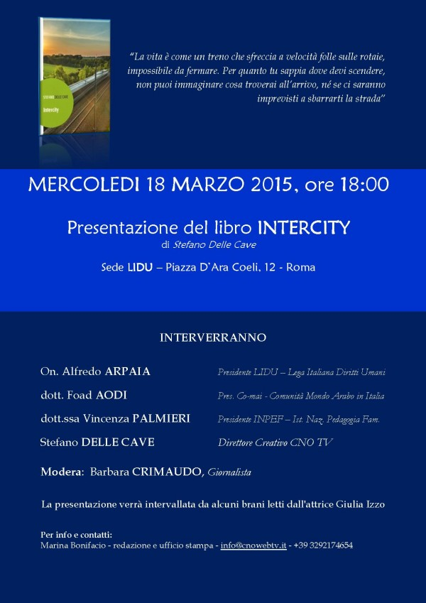 Invito presentazione libro Intercity