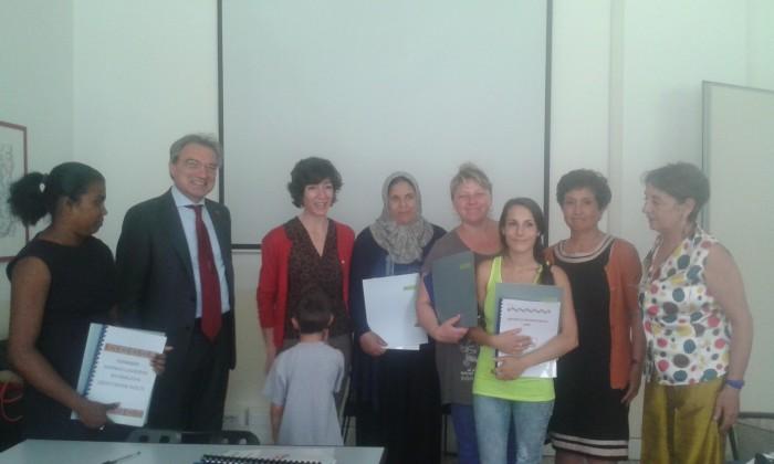 Assessore Tajani con le donne premiate