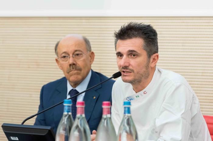 Andrea Voltolina (a dx)  con il presidente Sergio Rebecca
