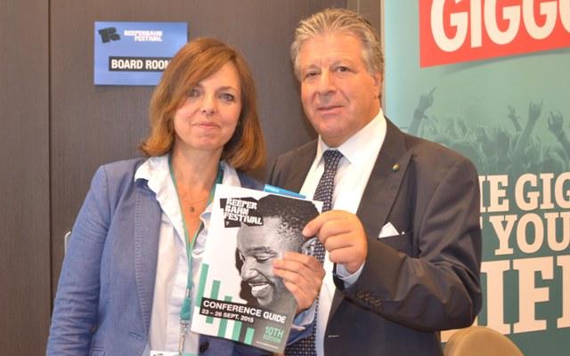 Corinne Rigaud e Vincenzo Spera (Presidente Assomusica)
