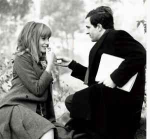 Françoise Dorleac e François Truffaut