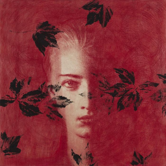 Omar Galliani_Dalle stanze di Ophelia_2005_pastello su tavola e tempera_cm 100x100_© Luca Trascinelli