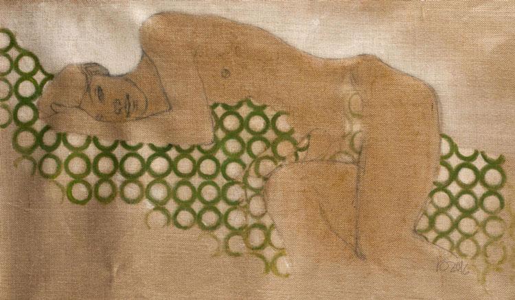 RvB-Arts_Lucianella-Cafagna_Sogno-di-mezza-estate_tecnica-mista-su-tela-di-juta_40-x-100-cm_light