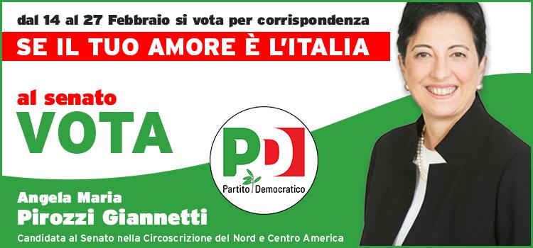 Candidature italiani all estero pd in canada angela maria for Imu prima casa non residente