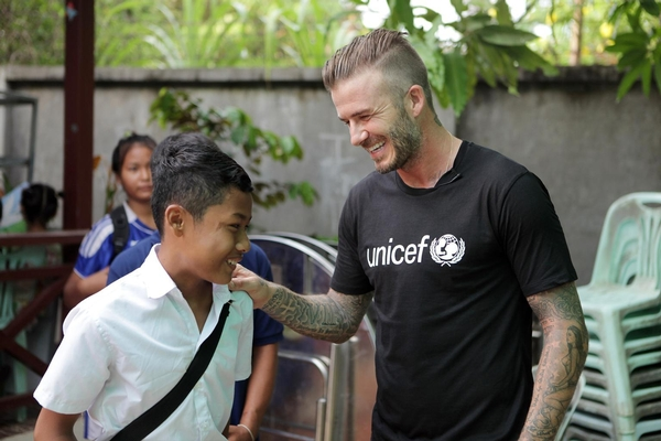 "Every five minutes across the world, a child dies as a result of violence.  UNICEF Goodwill Ambassador David Beckham is in Cambodia today, 15th June 2015, for the 7: David Beckham UNICEF Fund.  He is visiting centres supported by UNICEF and partners in Siem Reap, where vulnerable children are protected against the dangers of violence.  #ENDviolence Embargoed until Monday 15th June 2015, 08.30 GMT SIEM REAP, Cambodia, 15 June 2015 – UNICEF Goodwill Ambassador David Beckham travelled to Cambodia to see how UNICEF and its partners are helping children who have endured physical, sexual and emotional abuse, and protecting vulnerable children from danger.  Earlier this year, in his 10th year as a UNICEF Goodwill Ambassador, David Beckham and UNICEF launched 7: The David Beckham UNICEF Fund to help protect children in danger. David has committed to using his powerful global voice, influence and connections to raise vital funds and encourage world leaders to create lasting positive change for children.  The Fund will help UNICEF deliver life-changing programmes for children across the world, including those affected by violence in Cambodia. David Beckham, UNICEF Goodwill Ambassador said, ""I am here in Cambodia to meet children who have experienced violence, hear their stories and see what UNICEF and its partners are doing to keep these children safe. It is shocking that every five minutes a child dies because of violence somewhere in the world. This has to stop."""